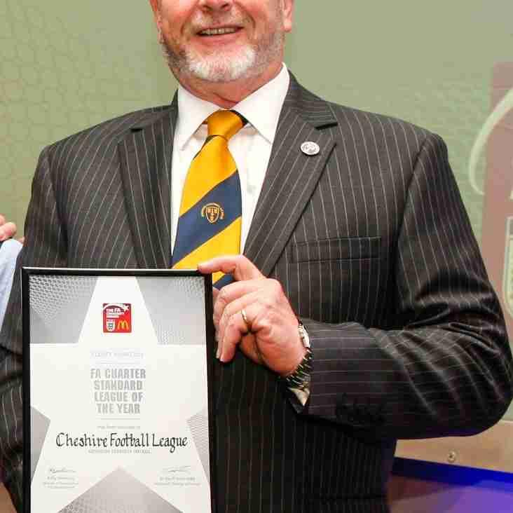Cheshire Football League shortlisted for National FA Award.