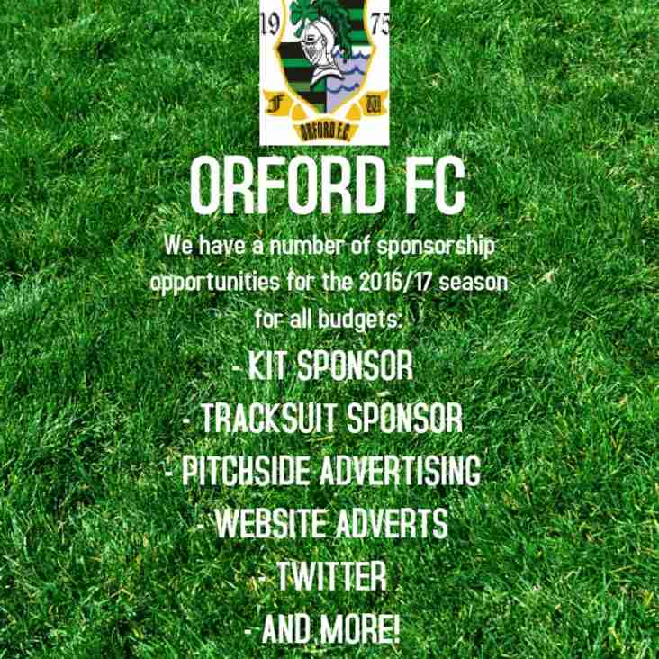 Sponsorship Required at Orford