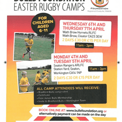 Easter Fun At The Hornets With Bradford Bulls