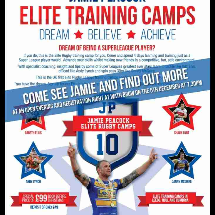 Jamie Peacock Elite Training Camp