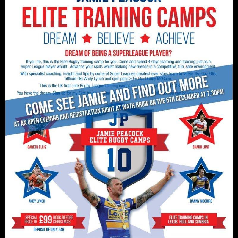 Jamie Peacock Elite Training Camp