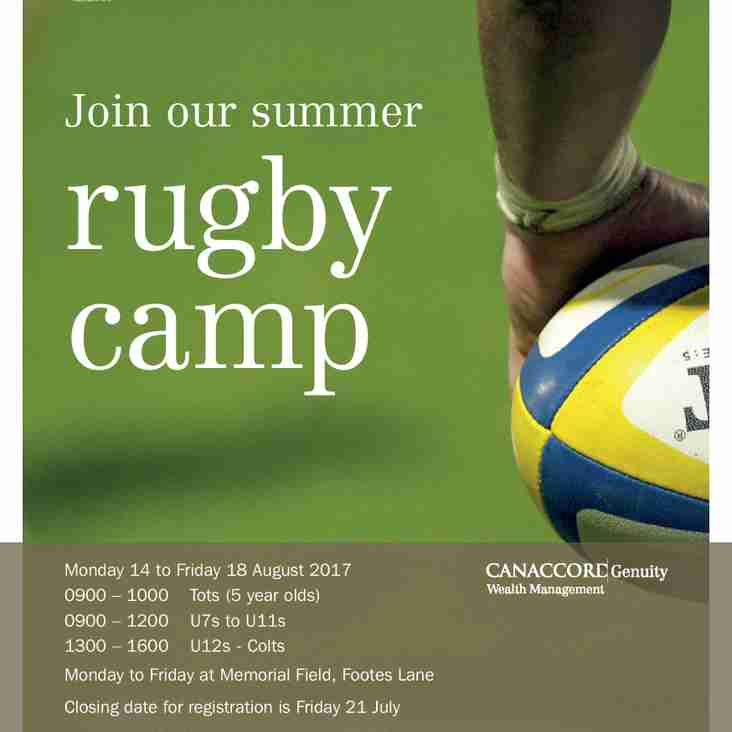GRA Summer Rugby Camp