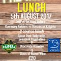 JOIN US FOR PRE-MATCH LUNCH