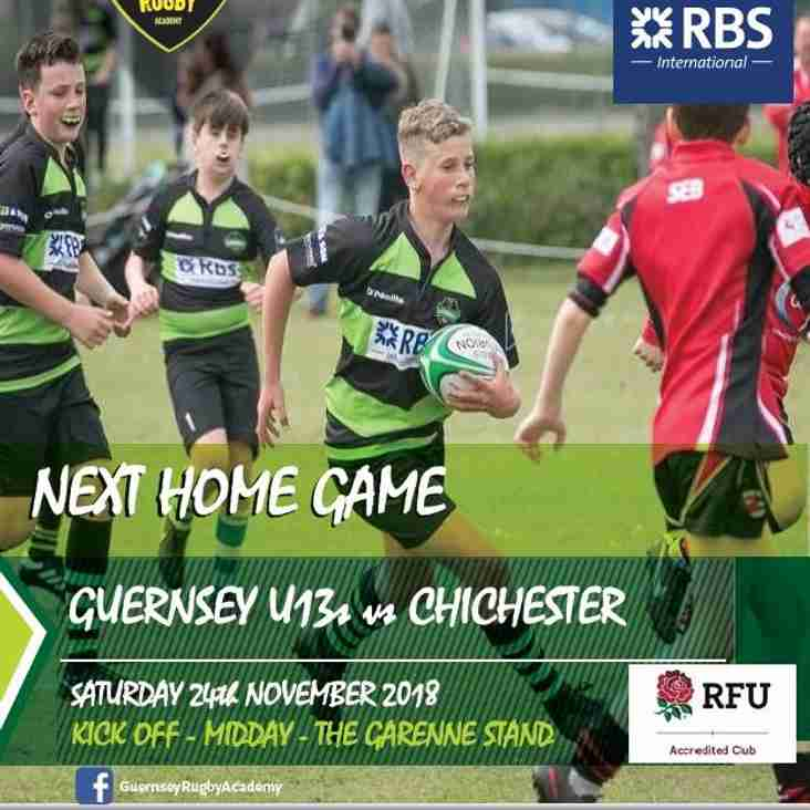 Next U13 Home Game