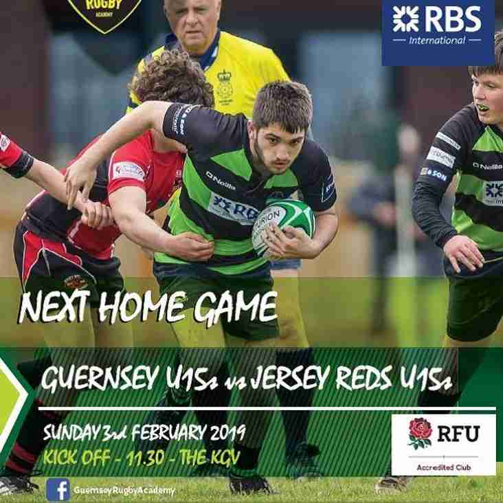 Home Game for U15's