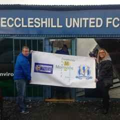 Morrisons Charity in the Community sponsor's Eccleshill Blues Juniour's