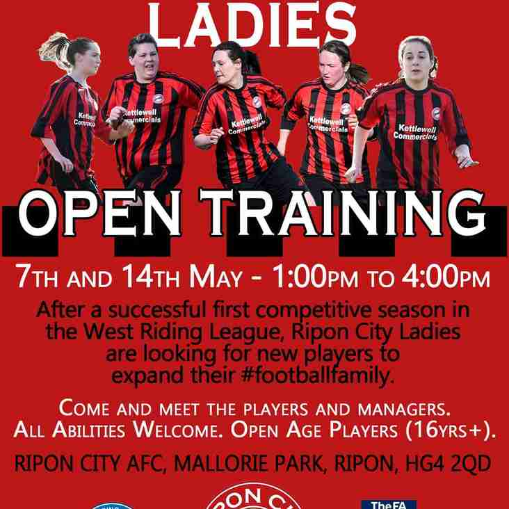 Ladies Open Training Day 7th and 14th May
