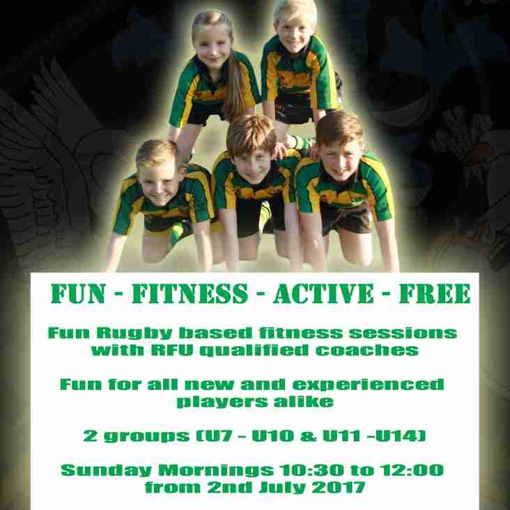 Minis & Juniors Summer Fun Fitness Starts - 2nd July 2017