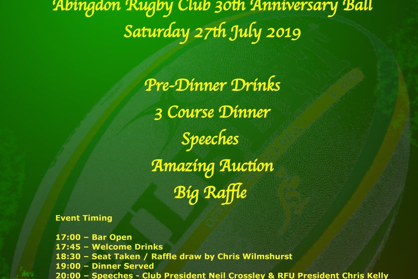 30th Anniversary Ball - 6 Weeks to go