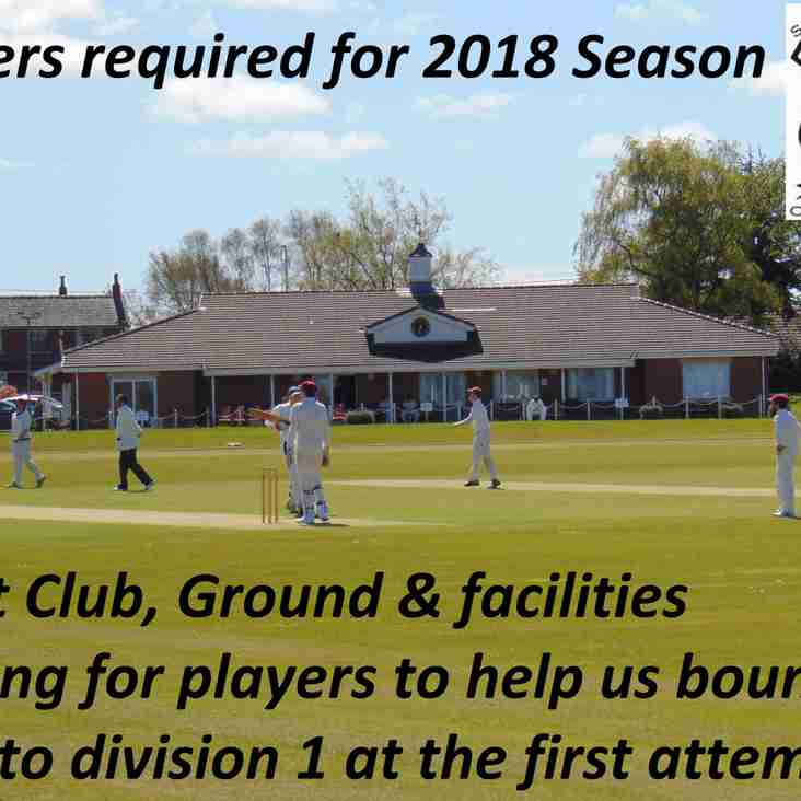 Senior Players urgently Required