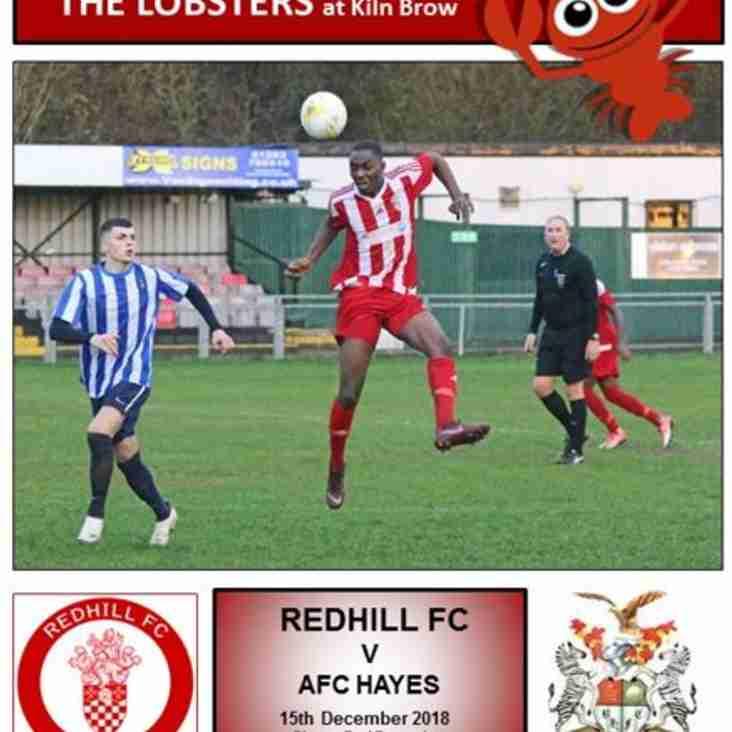 Redhill v AFC Hayes