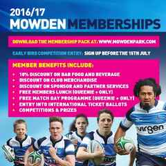 2016/17 MOWDEN MEMBERSHIPS - ON SALE NOW