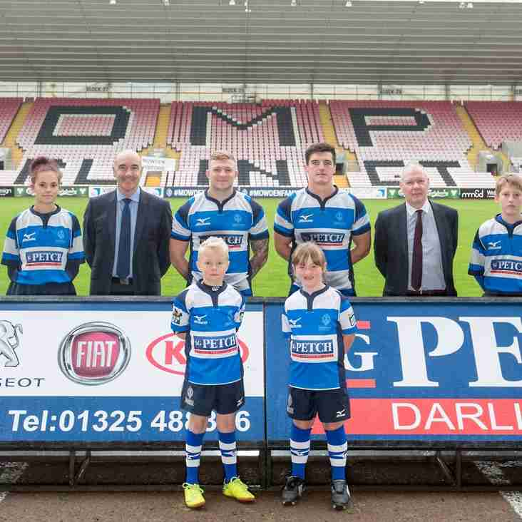 MOWDEN PARK ARE DELIGHTED TO ANNOUNCE RENEWAL OF SG PETCH SPONSORSHIP
