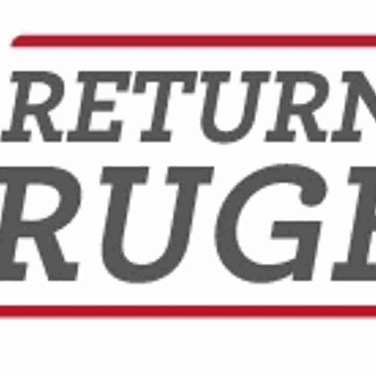 RETURN TO RUGBY - SESSION CANCELLED