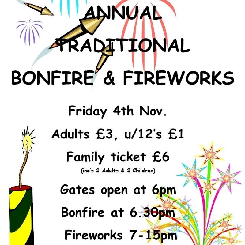 Berry Hill RFC Bonfire & Firework Dispaly