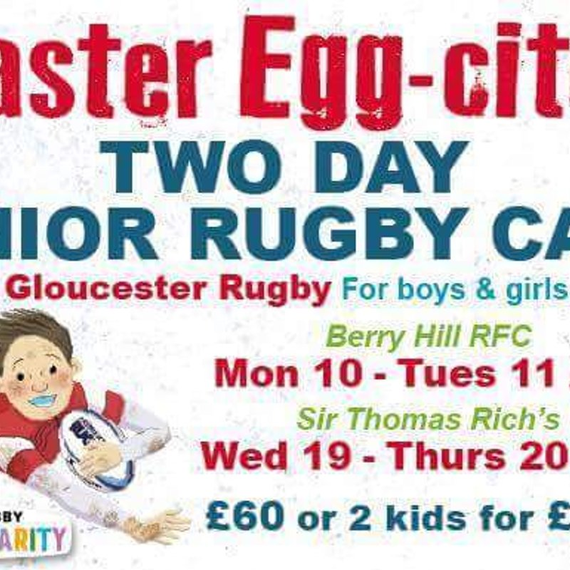 Junior Camp run by Gloucester Rugby
