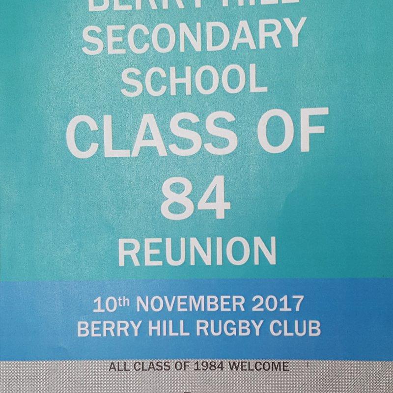 Berry Hill Secondary School, Class of 84 Reunion