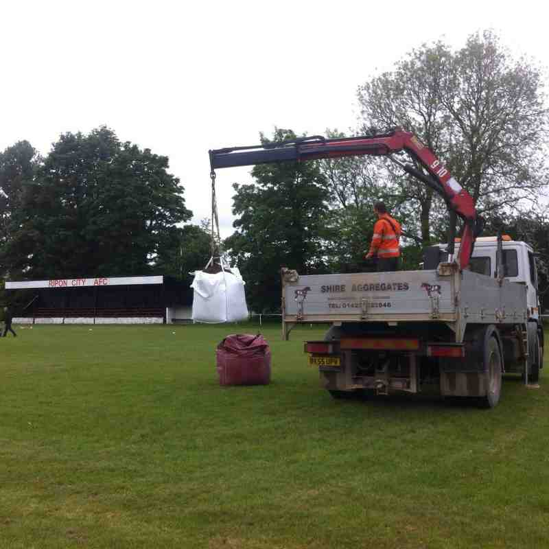 Pitch maintenance, June 2016