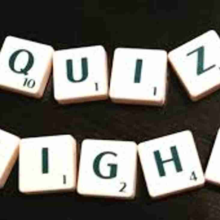 Club announces Quiz Night fundraiser on Saturday 18th November