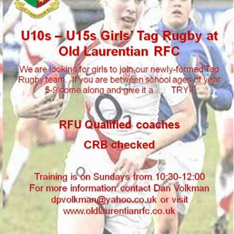 Girls Tag Rugby