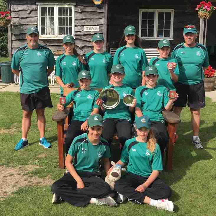Berkshire U13 Girls are Bucks 8-aside 2016 Tournament Winners