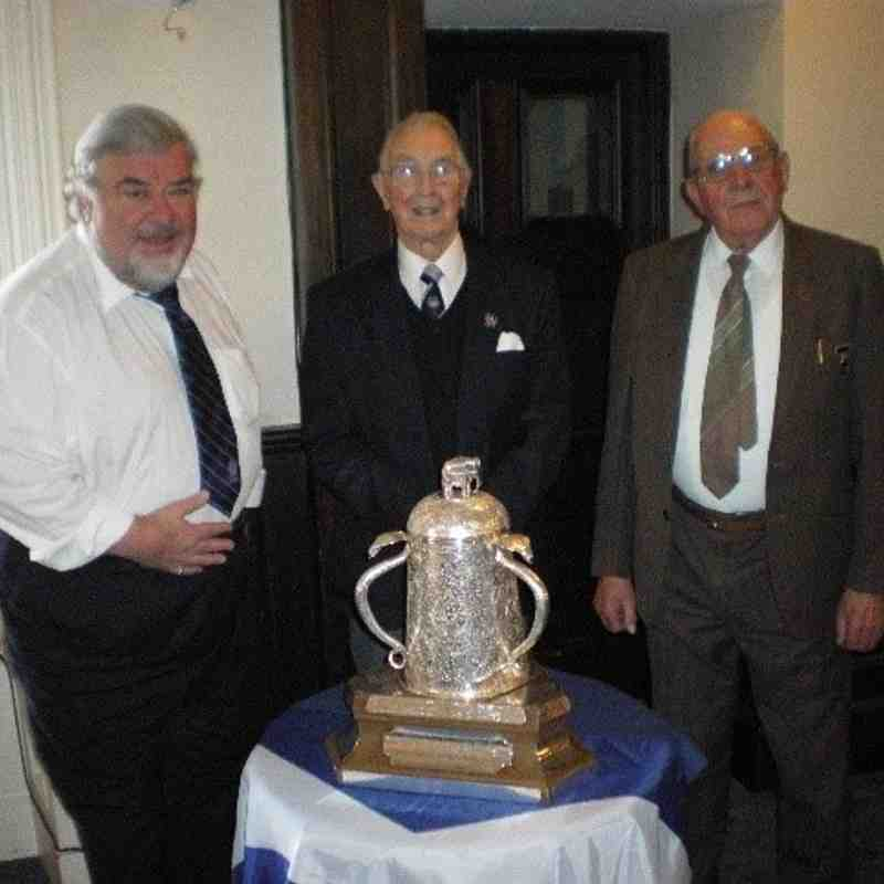 Dave, Donny and John Rothney,  whose ancestor created the Calcutta Cup