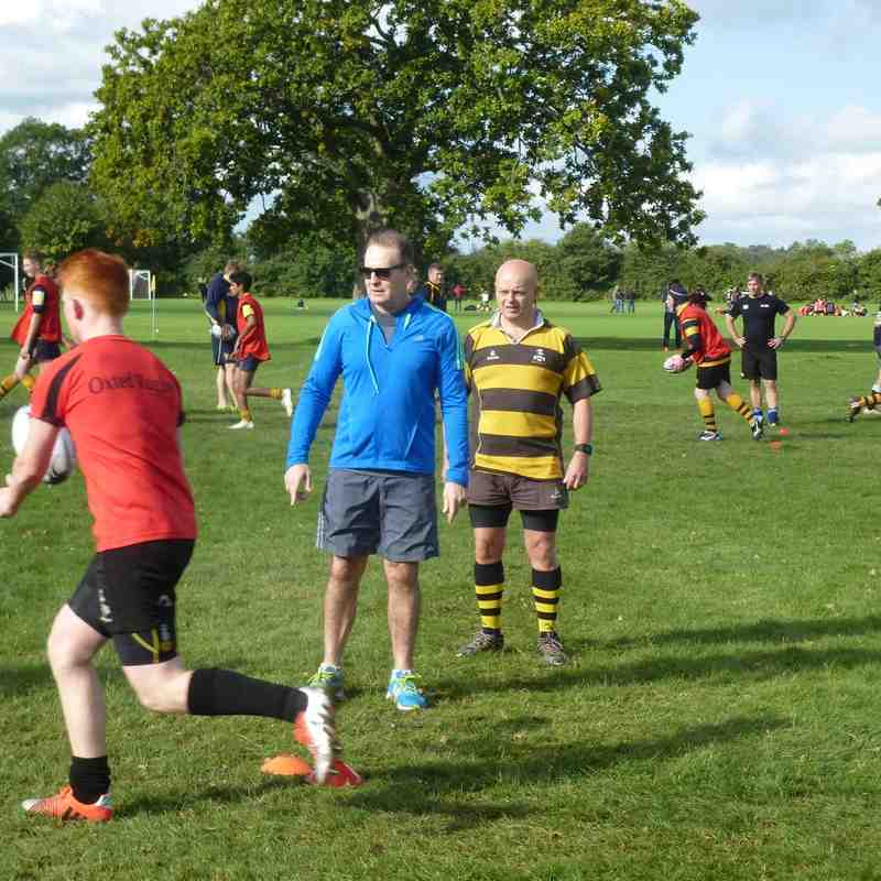 training with David Campese