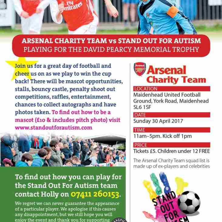 Stand Out For Autism FC vs Arsenal Charity Team
