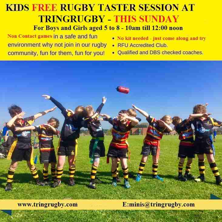 FREE taster session for 5-8 year old's Sunday 14 January 2018