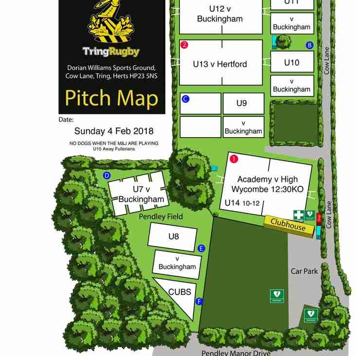Busy weekend at Cow Lane; Sunday pitch allocations