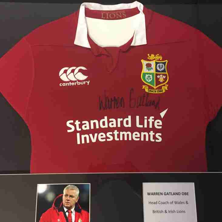 Bid to win a signed & framed British & Irish Lions shirt