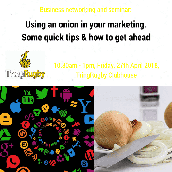 Supercharge your marketing with an onion! A TringRugby networking event
