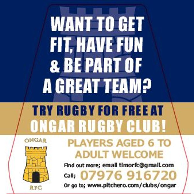 Join Ongar Rugby Club