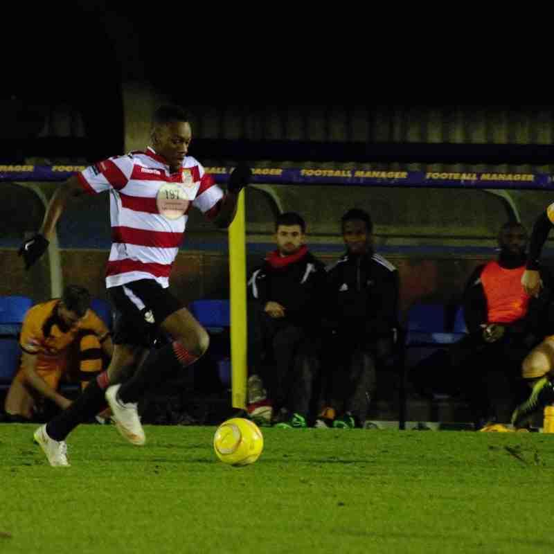 Kingstonian FC (3) vs (1) Merstham FC. 5th December 2015.