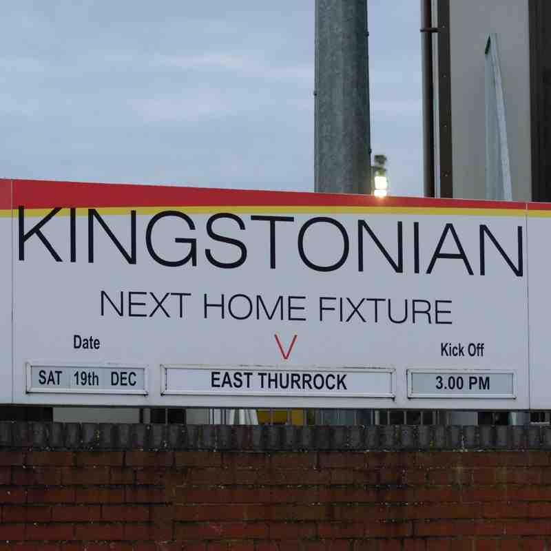 Kingstonian FC (1) vs (4) East Thurrock. 19th December 2015.