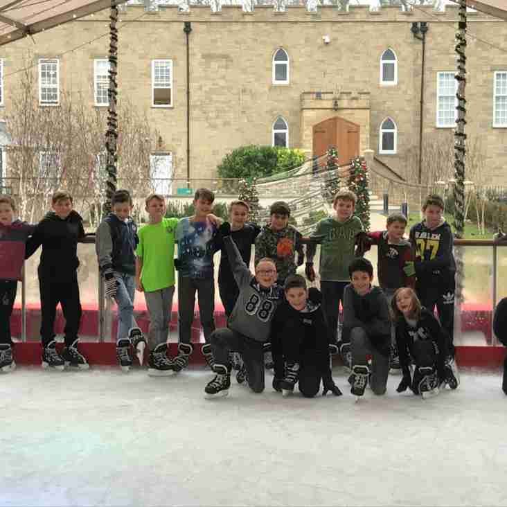 EGRFC U11's ice skating