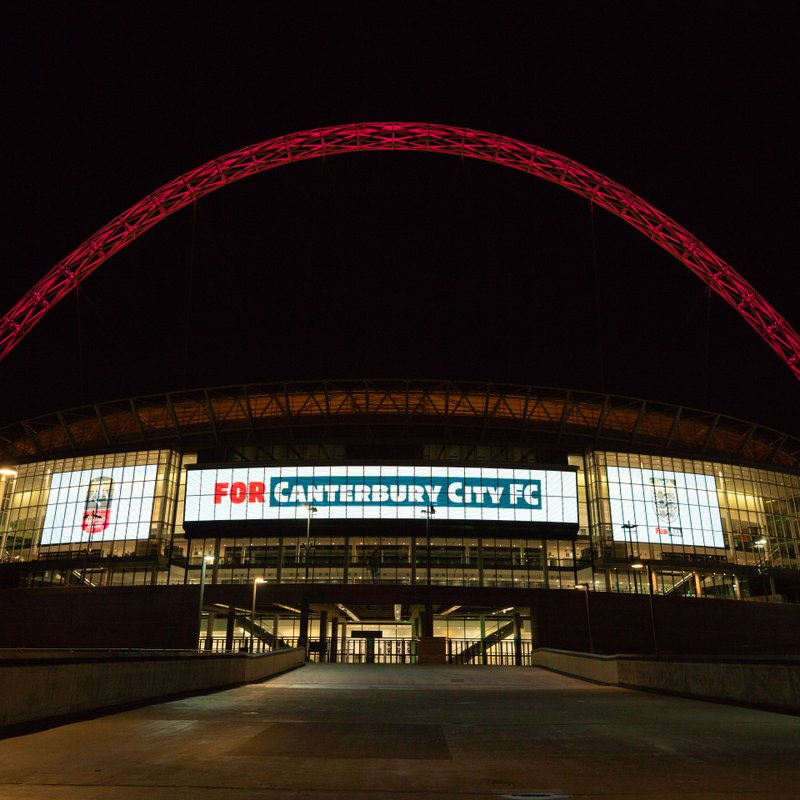 WEMBLEY STADIUM LIGHTS UP FOR CANTERBURY CITY
