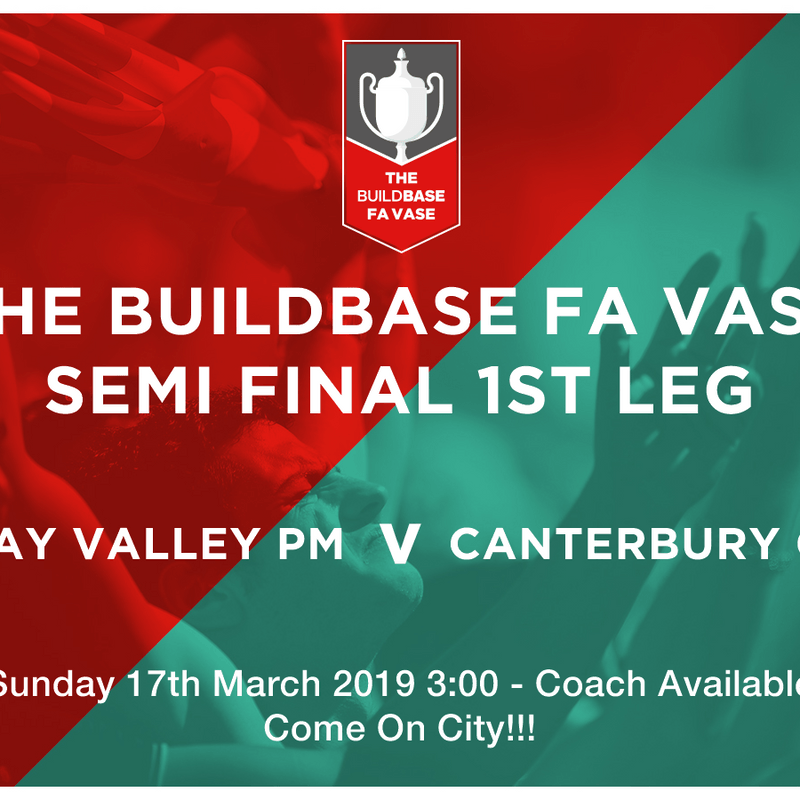 Supporters Coach Departure Details (FA Vase Semi)