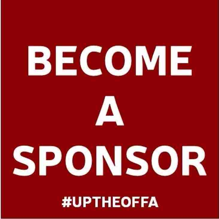 New Home Shirt Sponsor Opportunity
