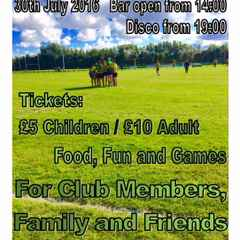 Summer Party Tickest still available by BACs.