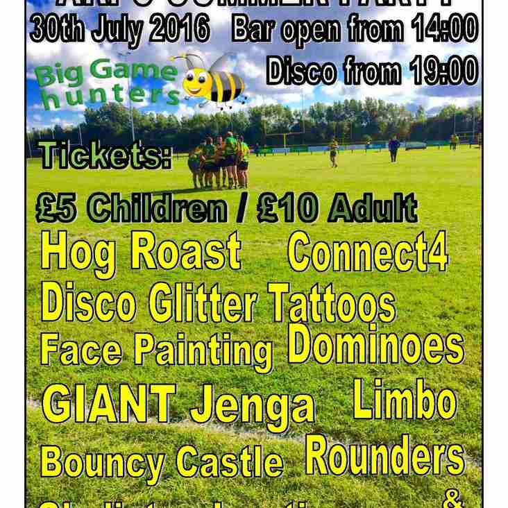 5 Summer Party Tickets Left!!