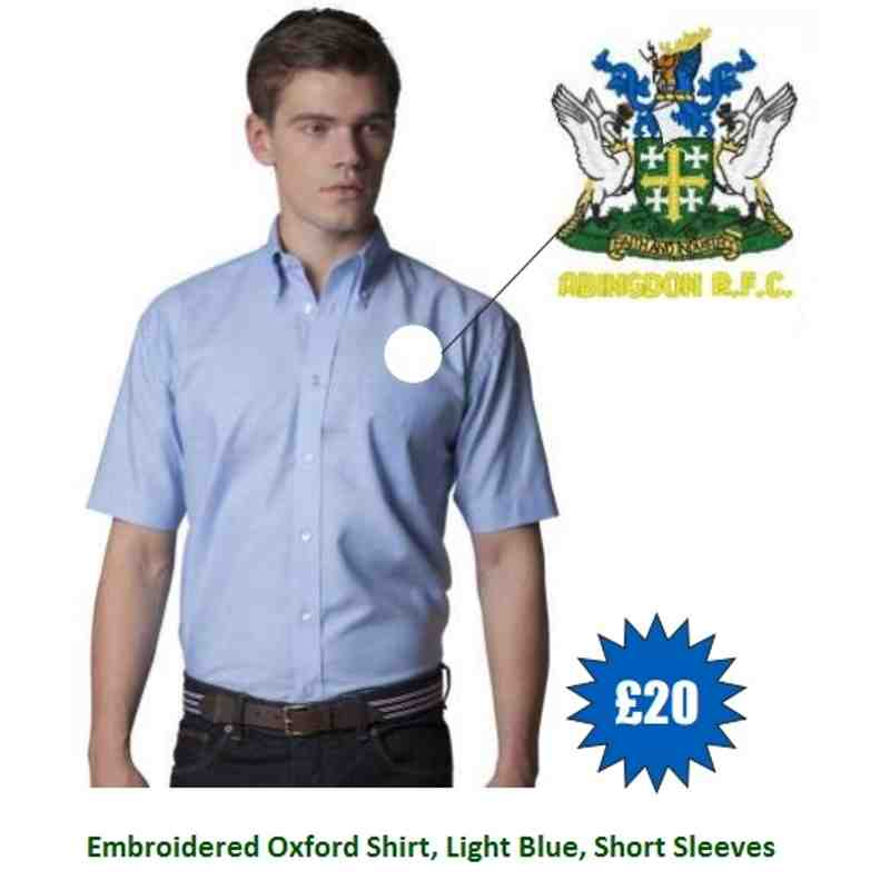 ARFC Branded Embroidered Oxford Shirt - Short Sleeve