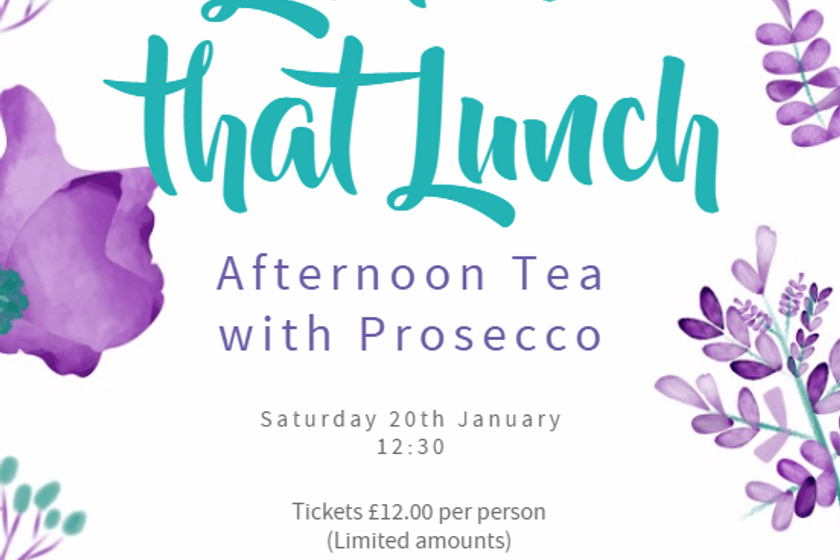 **Only two tickets remaining** - Ladies only lunch - Saturday 20 January 2018