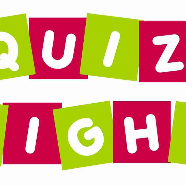 U15s Quiz Night - Friday 20 April