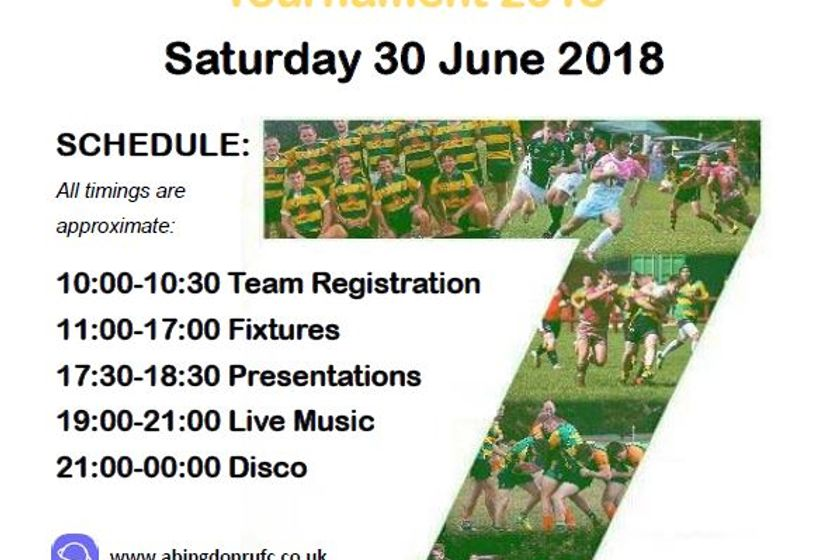 THIS WEEKEND - Abingdon Rugby Club - 64th Annual Sevens Tournament