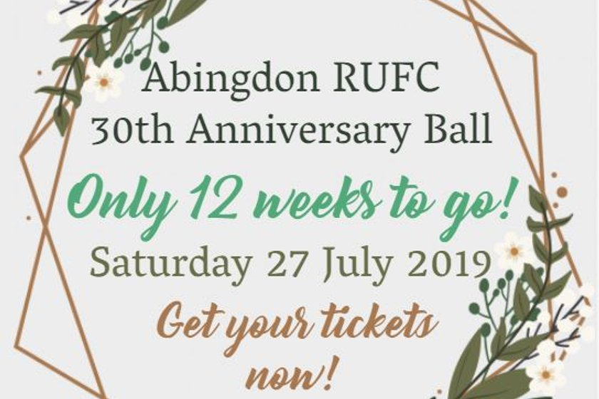 Only 12 weeks to go until Abingdon's 30th Anniversary Ball