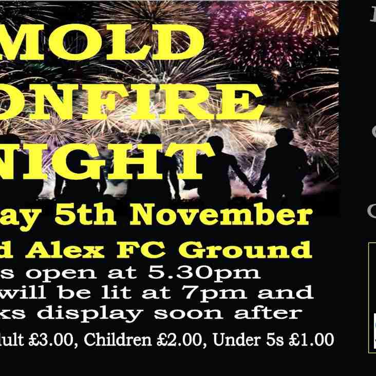 Mold Bonfire & Fireworks Display