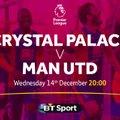 BIG SCREEN LIVE FOOTBALL - Crystal Palace v Manchester United