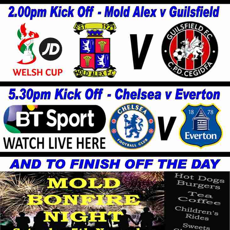 SATURDAY 5th NOVEMBER AT MOLD ALEX FC