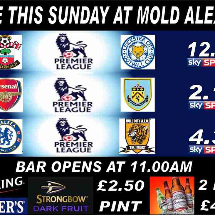 This Sunday at Mold Alex FC